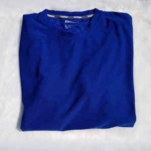 Reebok Men's Blue Short Sleeve Breathable T-Shirt